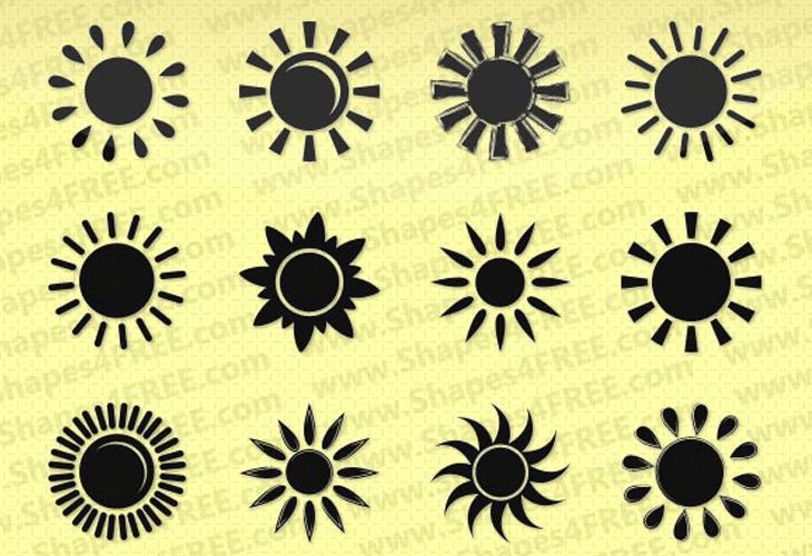 50 Photoshop Sun Shapes
