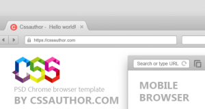 Free Download PSD Mobile and Desktop Browser Template for Google Chrome – Freebie No:1