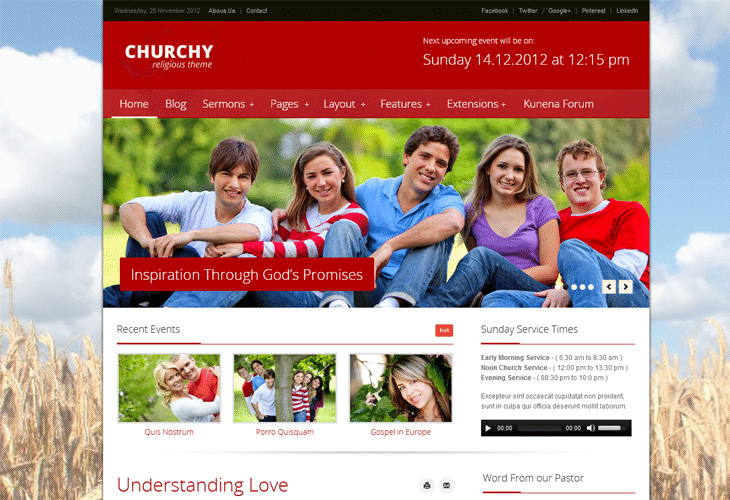 Churchy - Joomla Church Template