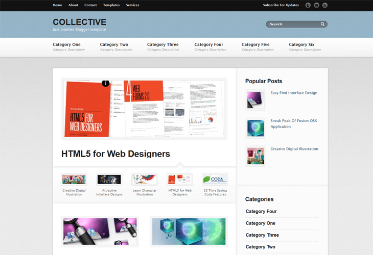 Collective Blogger Template