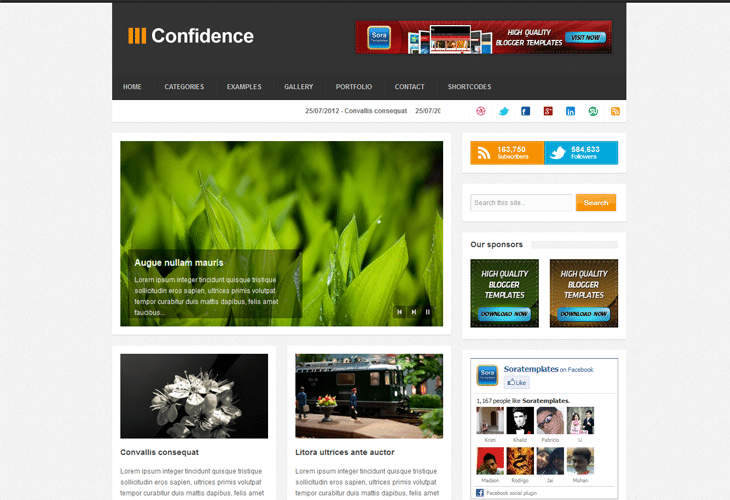 Confidence Blogger Template