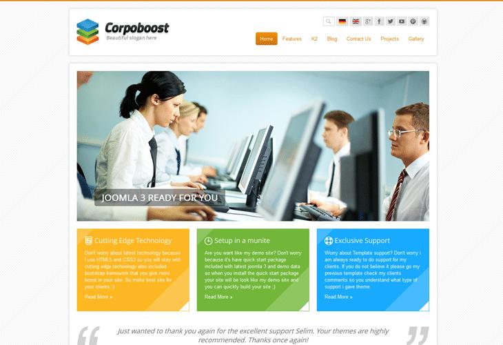 Corpoboost - Responsive Joomla Template