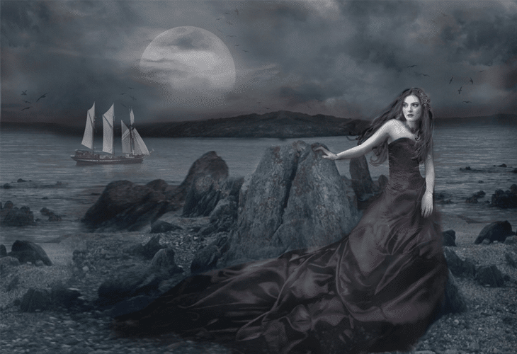 Dark Princess of the Seashore