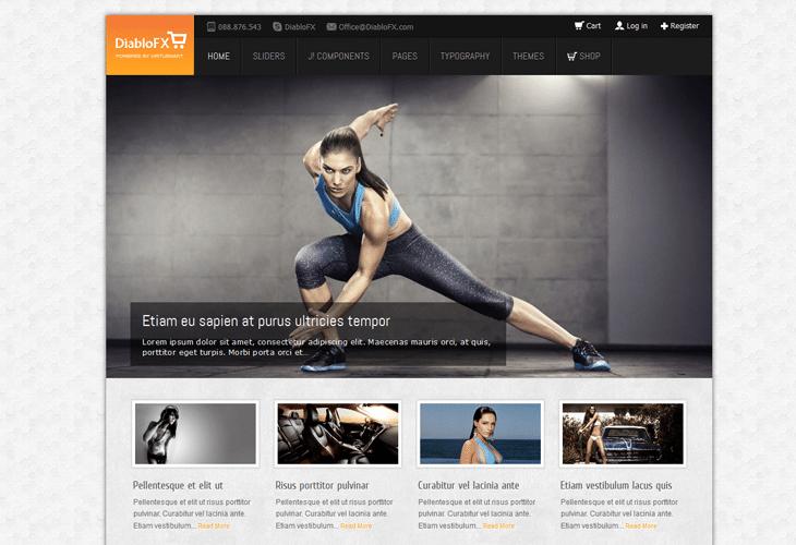 DiabloFX – Multipurpose Joomla Template