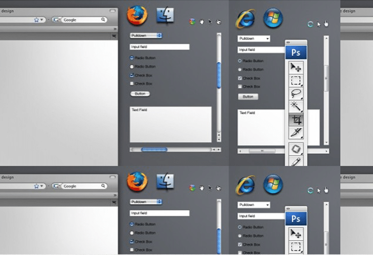 Free Browser Form Elements PSD