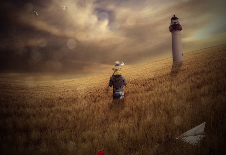 How to Create a Mystical Father and Son Scene in Photoshop