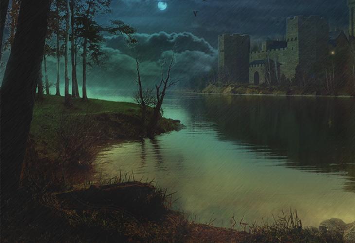 How to Create a Rainy Lake Scene in Photoshop