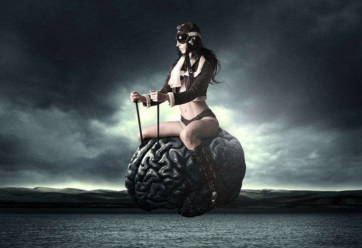 How to Create a Surreal Flying Brain Photo Manipulation in Photoshop