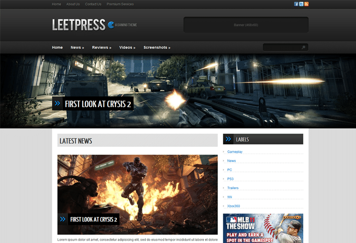 LeetPress Blogger Template