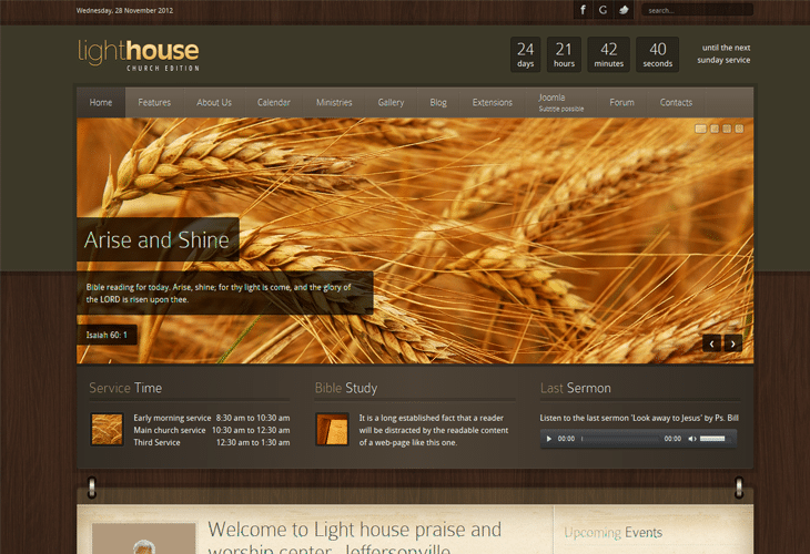 Lighthouse - Responsive Joomla Template