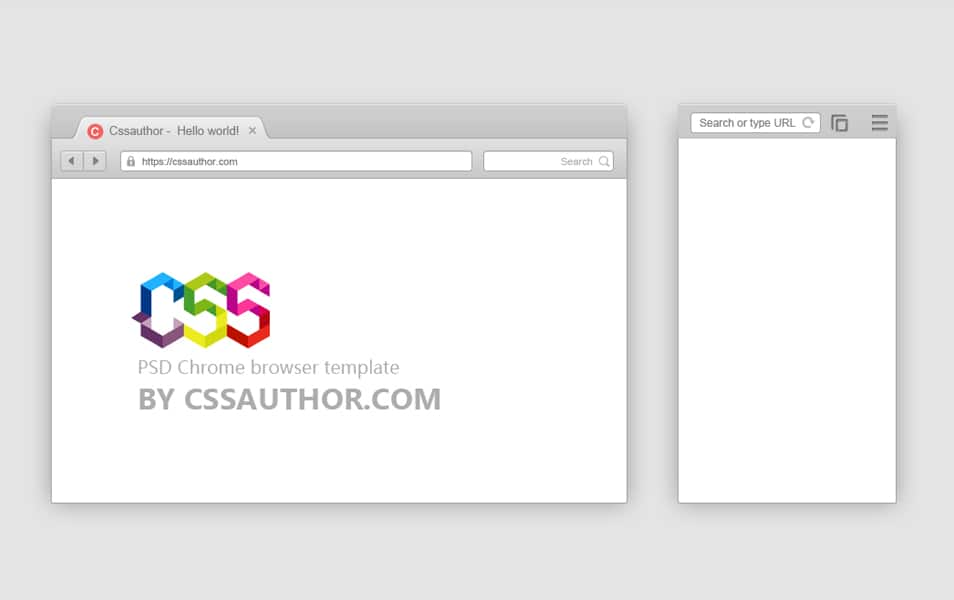 Free Download PSD Mobile And Desktop Browser Template For Google