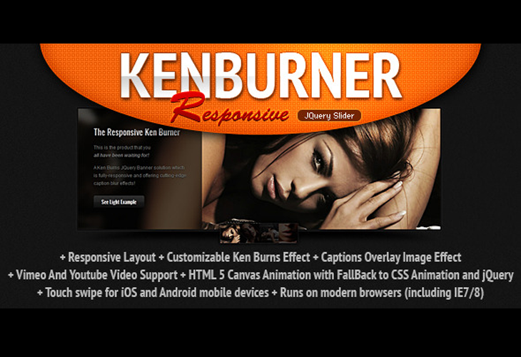 Responsive KenBurner Slider jQuery Plugin