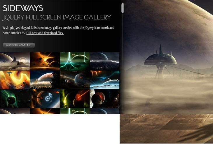 SIDEWAYS – jQuery fullscreen image gallery