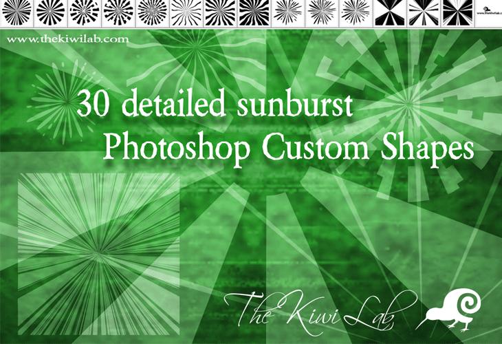 backflip540 sunburst shapes