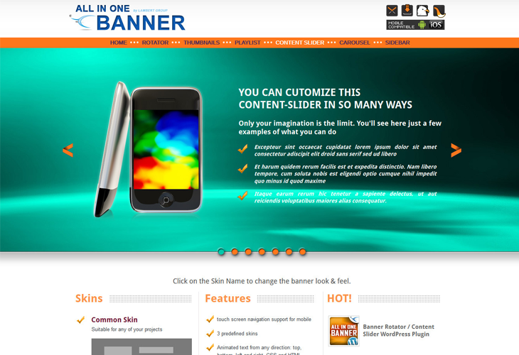 jQuery Banner Rotator / Content Slider / Carousel