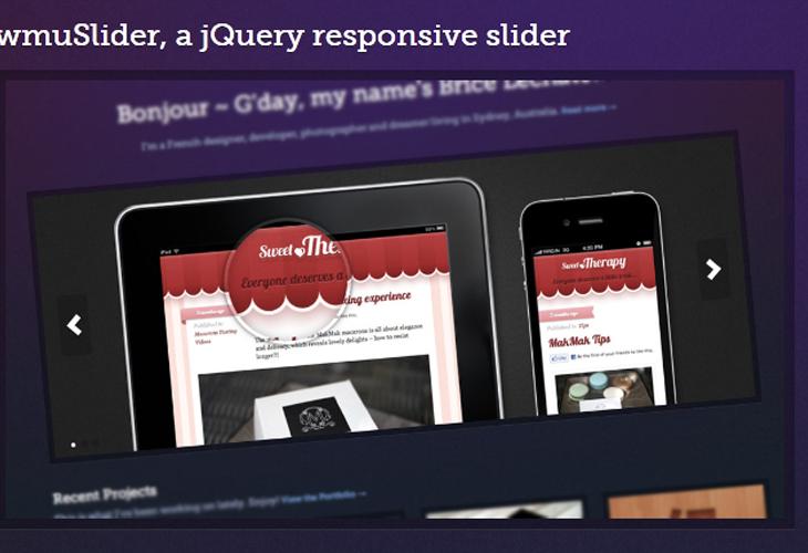 wmuSlider, a jQuery responsive slider