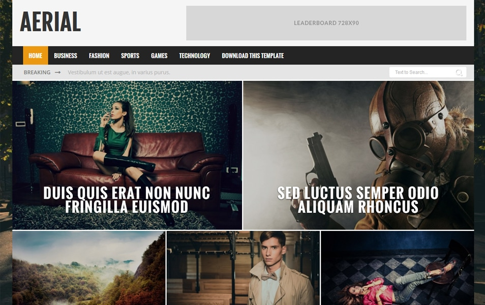 Aerial Responsive Blogger Template