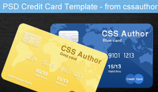 Awesome Credit Card Template PSD for Free Download - cssauthor.com