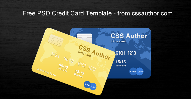 awesome credit card template psd for free download cssauthorcom