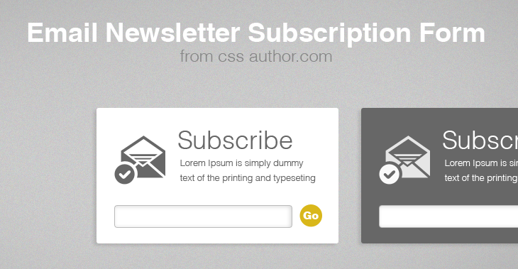 Beautiful Free Email Newsletter Subscription Form PSD Download - cssauthor.com