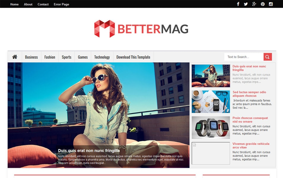 Better Mag Responsive Blogger Template