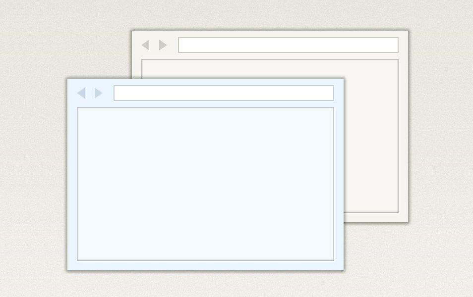 Browser window, multicolor PSD