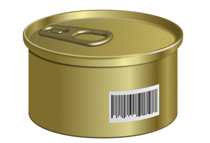 Can with a Barcode