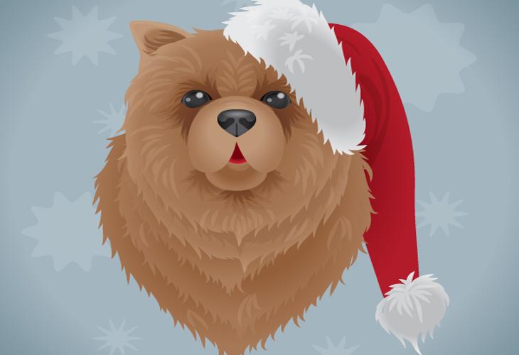 Create a Festive Dog Illustration in Adobe Illustrator - cssauthor.com