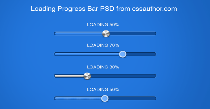 Download Free Progress and Loading Bars PSD - cssauthor.com