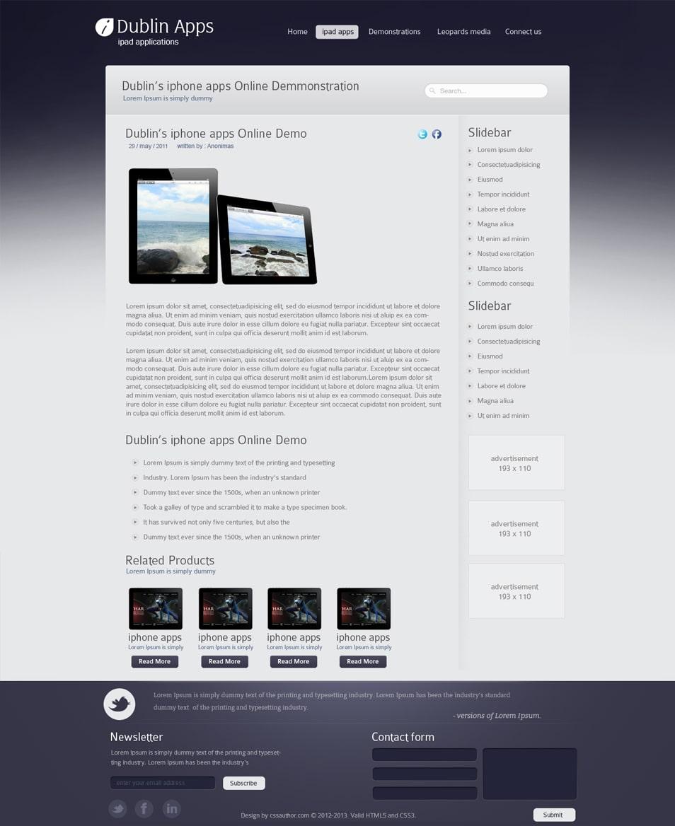 Dublin iPad Apps - Blog Inner Page