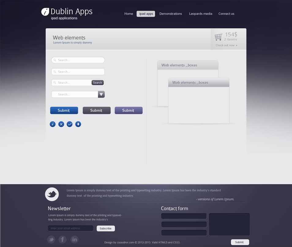 Dublin iPad Apps - Web Elements