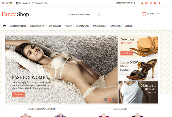 Fancy Shop Magento Template - cssauthor.com