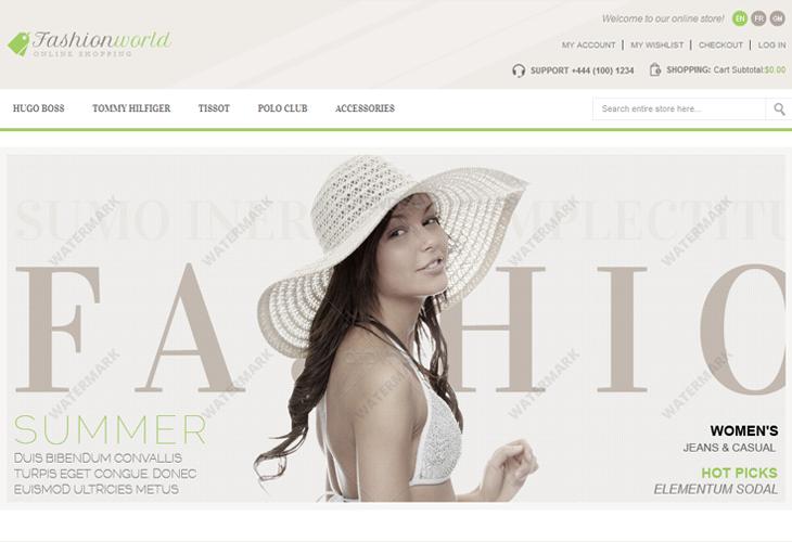 Fashion World - Responsive Magento Theme - cssauthor.com
