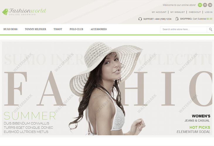 Fashion World - Responsive Magento Theme - cssauthor.com