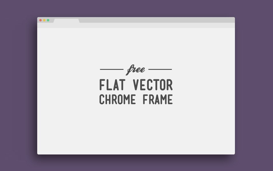 Flat Vector Chrome Frame