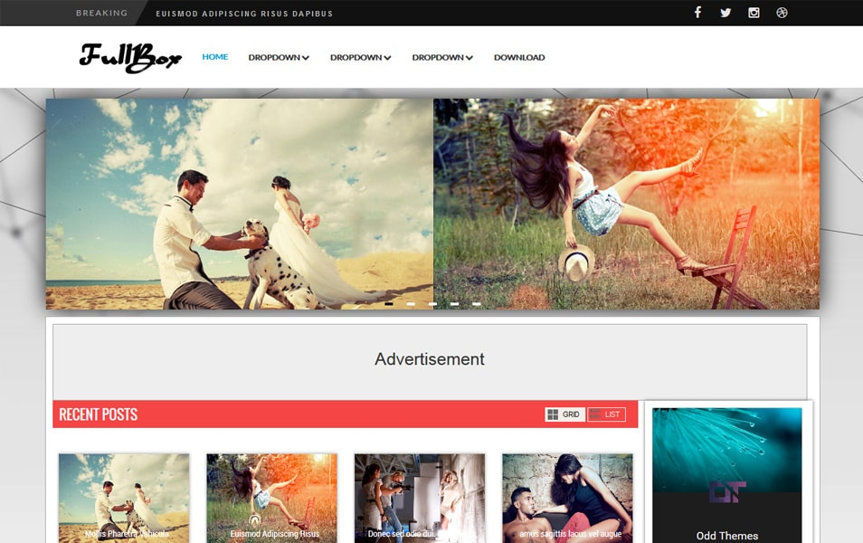 FullBox Responsive Magazine Blogger Template