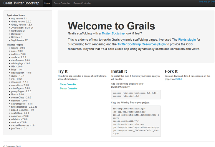 Grails Twitter Bootstrap Scaffolding