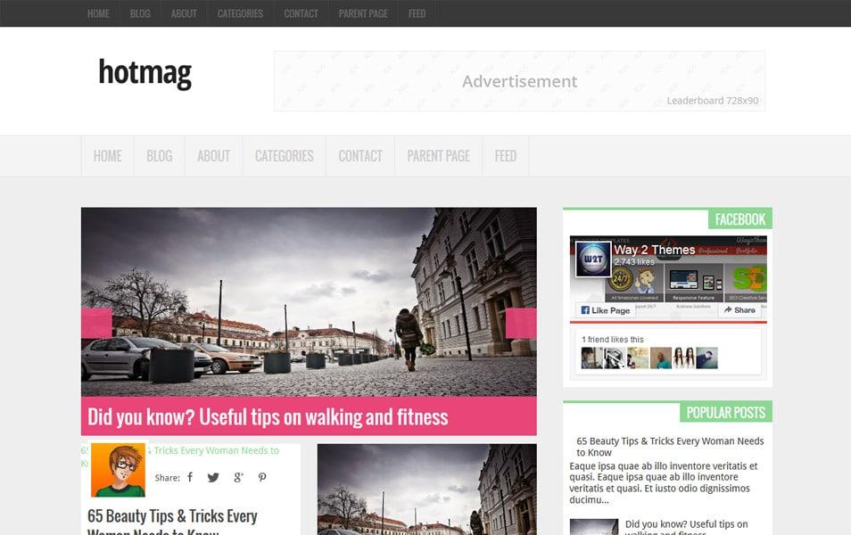 Hotmag Portfolio Blogger Template