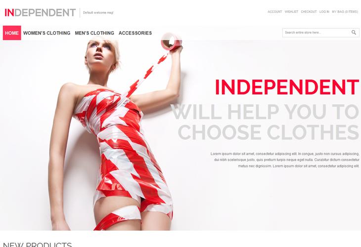 Independent - Responsive Magento Theme - cssauthor.com