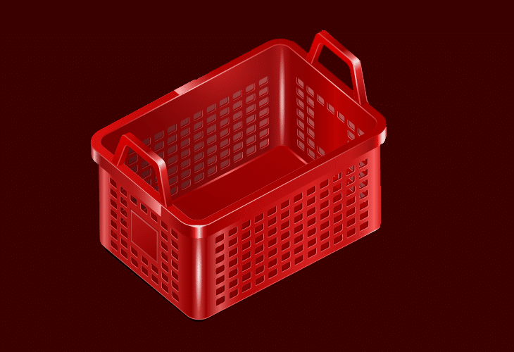 Isometric Shopping Basket