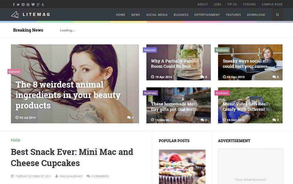Litemag Clean & Responsive Blogger Template