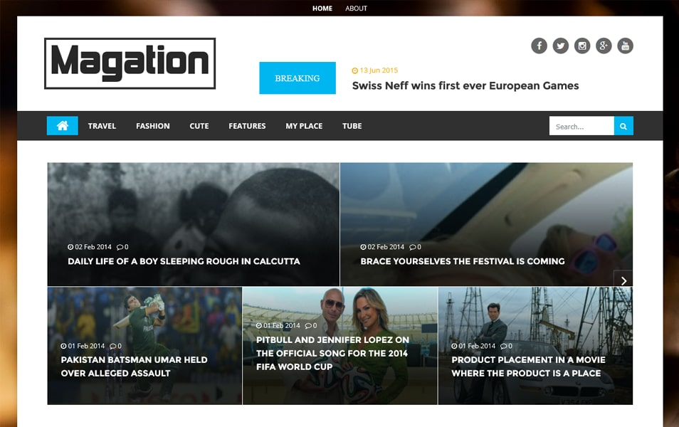 Magation Responsive Magazine Blogger Template