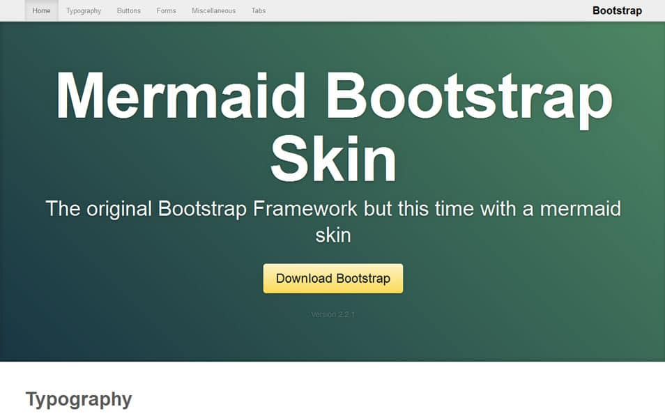 Mermaid Bootstrap Skin