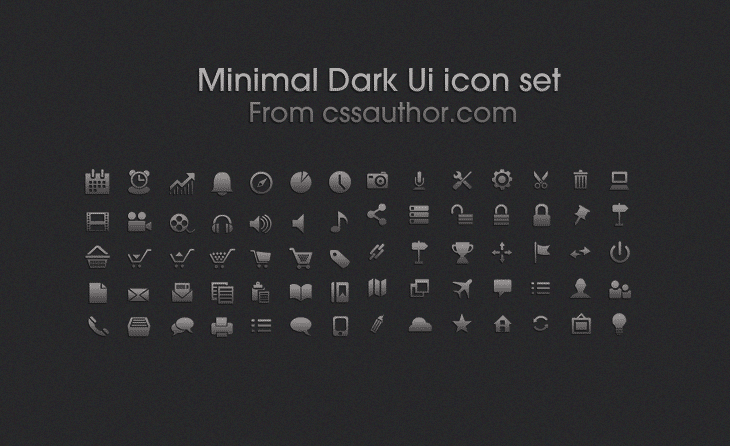 Minimal Dark Ui icon set - cssauthor.com