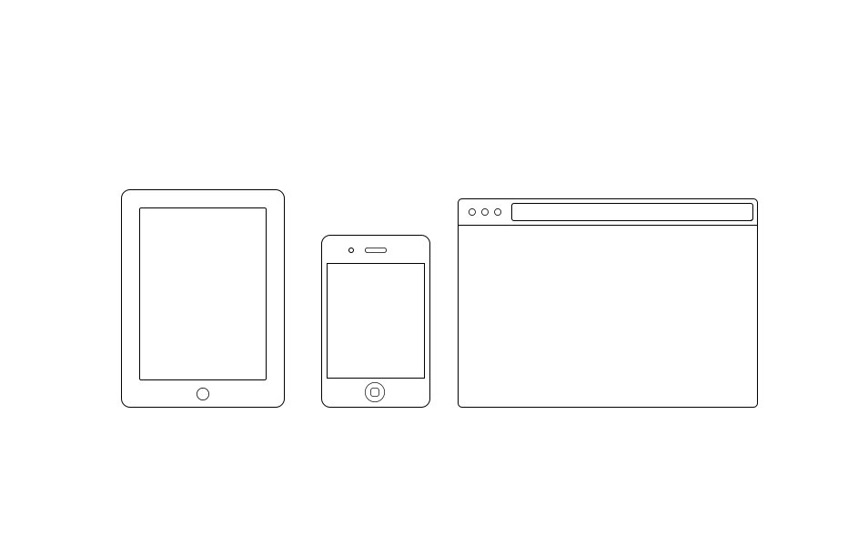 Minimal iOS/Browser Frames