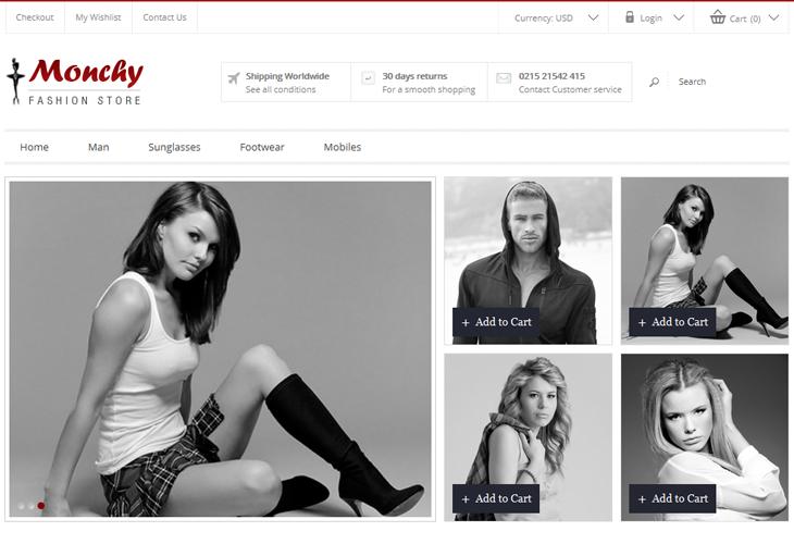Monchy Fashion Store - cssauthor.com