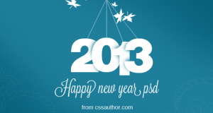 New Year Greeting Card PSD Free Download – Freebie No: 20
