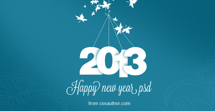 New Year Greeting Card Psd Free Download Freebie No 20