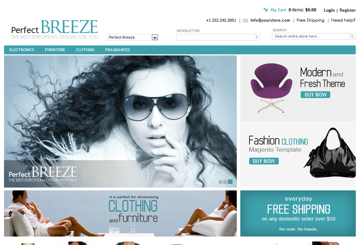 PerfectBreeze Magento Template - cssauthor.com
