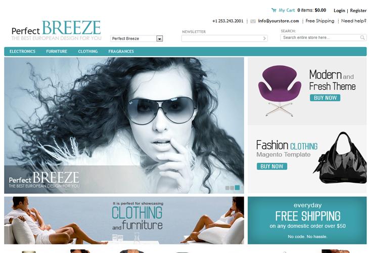 PerfectBreeze Magento Template - cssauthor.com